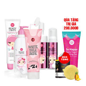 Bộ Chăm Sóc Cơ Thể Karmarts + Qùa tặng: Gel Tẩy Tế Bào Chết Sữa Chua Dâu Cathy Doll So Happy Berry Yogurt Peeling Gel (60ml) & Xà Phòng Thảo Dược Dứa & AHA Cathy Doll Reunrom Herbal Soap Pineapple & AHA (55g)
