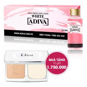 Combo 4 Dưỡng Chất Uống Làm Đẹp White Adiva (14 lọ/hộp) + Quà Tặng 1 Phấn Phủ Diorsnow White Pure And Perfect Transparency Makeup Powder SPF 30 PA+++  (11g) Trị Giá 1.750.000 Đ