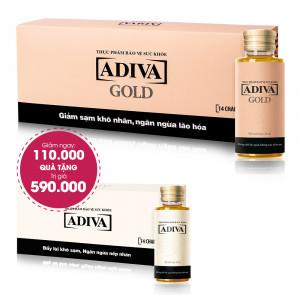 Combo 3 Thực Phẩm Bảo Vệ Sức Khỏe Adiva Gold (14 lọ/hộp) Giảm Ngay 110.000đ+ Quà Tặng: 1 Thực Phẩm Bảo Vệ Sức Khỏe Adiva (14 lọ/hộp). Tổng Giá Trị Quà Tặng 700.000đ