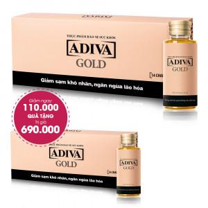 Combo 3 Thực Phẩm Bảo Vệ Sức Khỏe Adiva Gold (14 lọ/hộp) Giảm Ngay 110.000đ+ Quà Tặng: 1 Thực Phẩm Bảo Vệ Sức Khỏe Adiva Gold (14 lọ/hộp). Tổng Giá Trị Quà Tặng 800.000đ