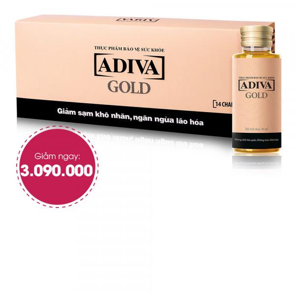 Combo 6 Thực Phẩm BVSK Adiva Gold (14 lọ/hộp) Giảm Ngay 1.050.000đ Còn 3.090.000đ