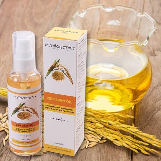Dưỡng trắng da, chống lão hóa an toàn và cực rẻ bằng dầu cám gạo
